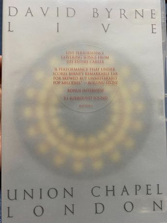 DVD David Byrne live Union Chapel London