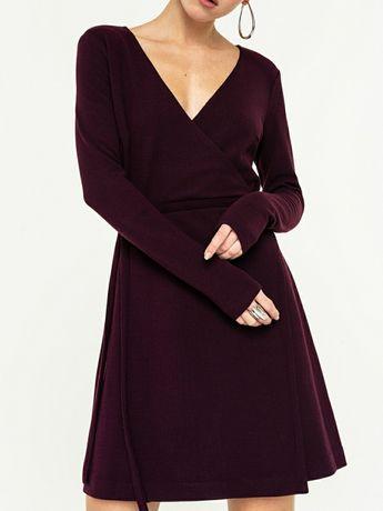 На бирке 649 грн Новое бордовое платье с на запахе запахом
