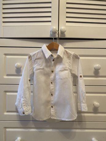 Рубашка белая льняная рост 104