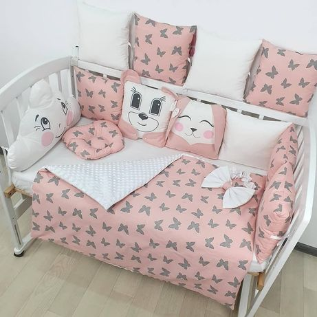 Детское постельное белье, бортики в детскую кровать,одеяло, подушка