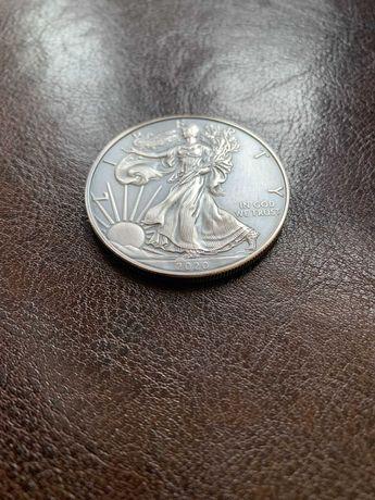 Moneta srebrna Amerykański Orzeł 2020 stan menniczy oksydowana