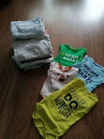 Ubranka dla chłopczyka 56-62 (80sztuk)