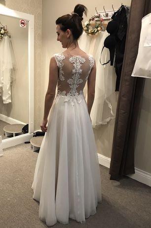 Sukienka ślubna ecru SABE rozm.34 Cena zakupu:5400zł