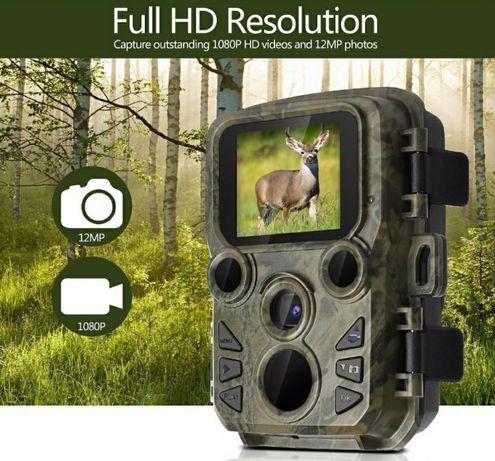 Câmera 12MP FullHD 1080p à prova chuva sensor movimento visão noturna