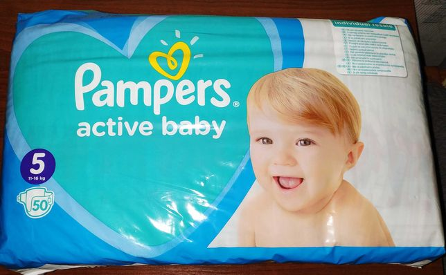Подгузники Pampers Active Baby 5 (11-16 кг) 50 штук пачка