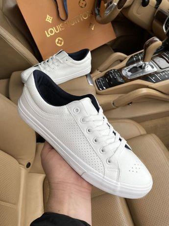 40-46р Черные белые кожаные кеды кроссовки мокасины слипоны туфли