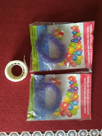 Taśma do girland balonowych taśma do balonów ślub wesele