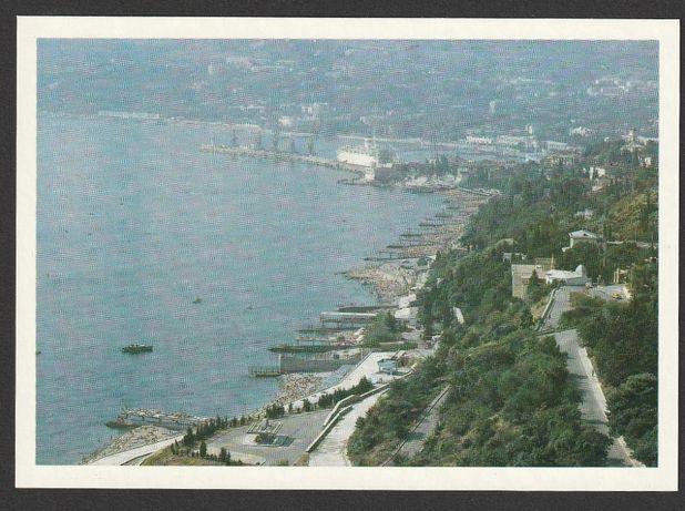 pocztówka - ZSRR Rosja - Jałta 1981 - plaża