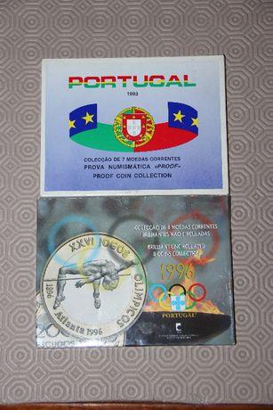 Colecção moedas escudos - 1993 e 1996