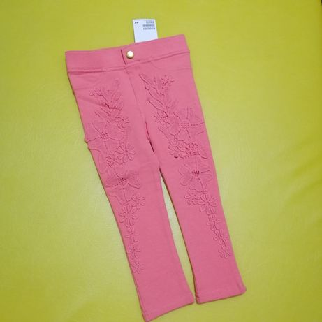 Лосины леггинсы штаны тёплые брюки H&M 1-2 года