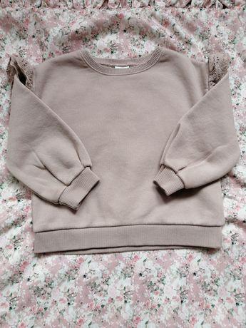 Zara piękna bluza z falbankami 104