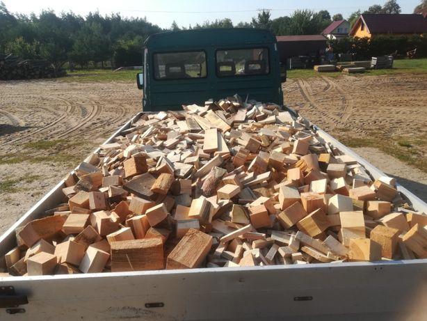 Drewno rozpałkowe, drewno opałowe, kostka, zrzyny