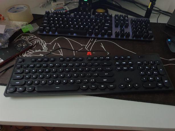 klawiatura ajazz podświetlana czarna okrągłe orzyciski