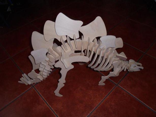 Puzzle grande 3D - dinossauro - madeira