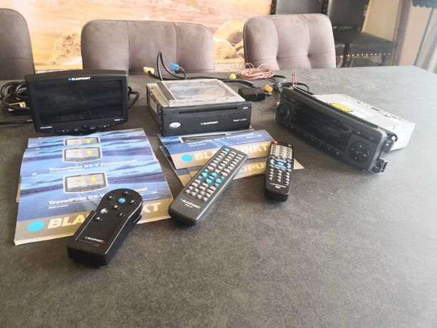 car audio BLAUPUNKT Radio samochodowe 2 monitory nawigacja dvd