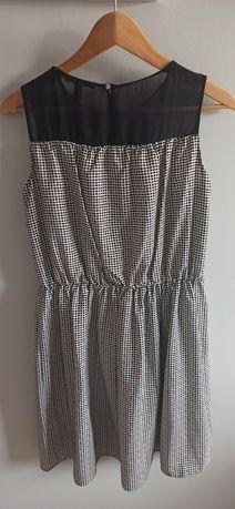 Sukienka Mango rozmiar M, bialo czarna