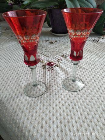 Ексклюзивний набір бокалів  з червоного скла