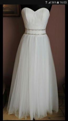 Suknia ślubna dekolt serce