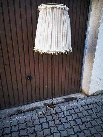 Lampa stojąca regulowana mosiezna z Niemiec zabytkowa