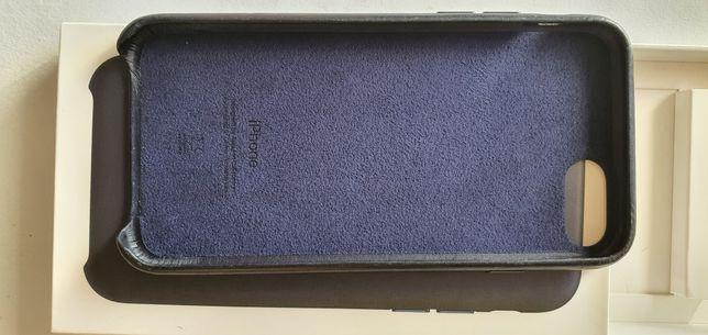 Iphone SE 2020 Blue Leather Case Original