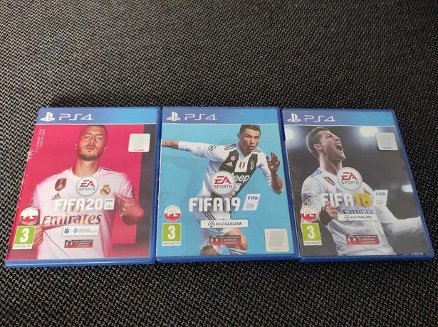 Sprzedam na PS4 Fife20,19 i 18