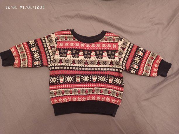 Bluza świąteczna święta renifer bałwanek next 82