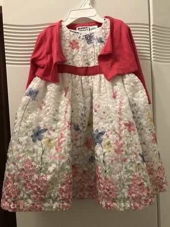 Sukienka z bolerkiem na 2 latka