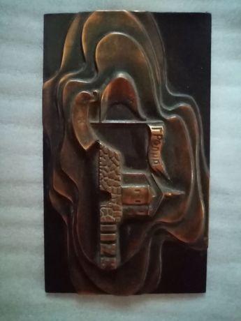 Картина чеканка медь
