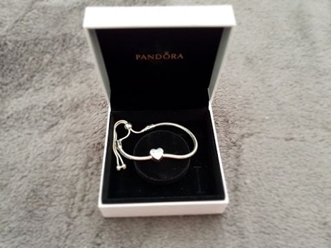 Bransoletka Moments Pandora z Charms serce Dziękuję Thank you z cyrkon