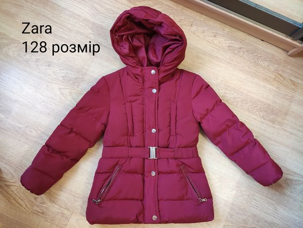 Куртка Пуховик на дівчинку Zara 128 розмір