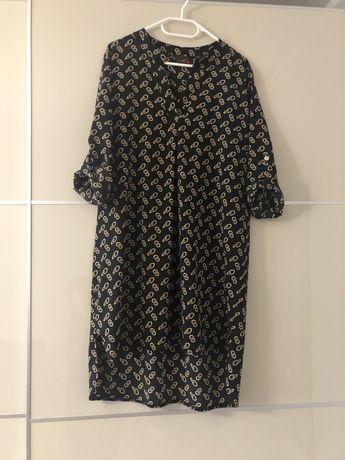 Sukienka oversize czarna wzorek nowa