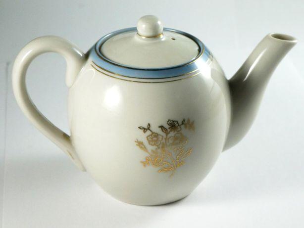 Небольшой заварной чайник, фарфор, позолота, винтаж