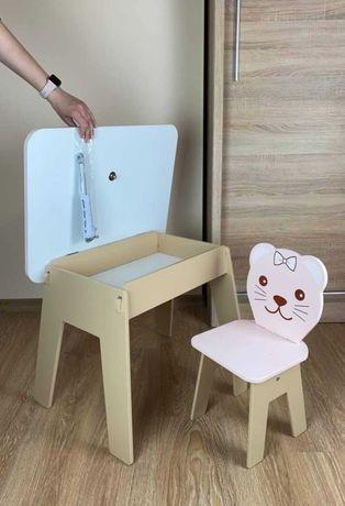 Стол и стул для детей cтульчик, столик Мдф и дерево