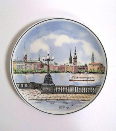 Porcelanowy talerz kolekcjonerski wiszący Villeroy&Boch