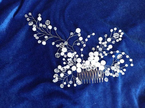 Украшение невесты для волос. Жемчуг на волосы