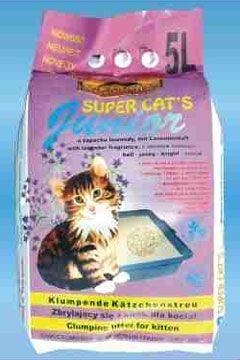 Żwirek dla kota bentonit 5 l Super Cat's Junior