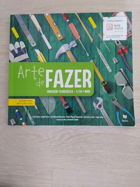 Livro escolar de Educação Tecnológia Arte de Fazer 5º/6º ano NOVO