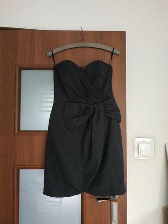 Elegancka sukienka H&M czarna bez ramiączek 36 S