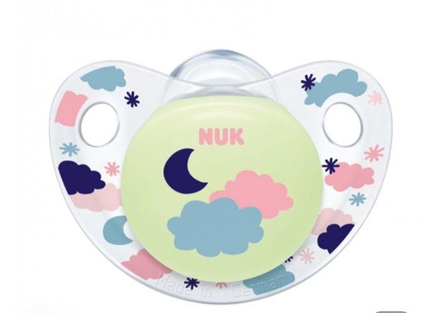 Пустушка ортодонтична NUK Trendline Day&Night силіконова, рожева, 0-6