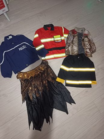 Лот детских карнавальных костюмов полицейские-пожарные и т.д