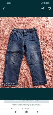Spodnie jeansy dla dziewczynki 92