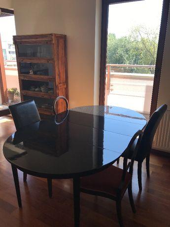 Stół czarny drewniany rozkładany 4 osobowy albo 6 osobowy