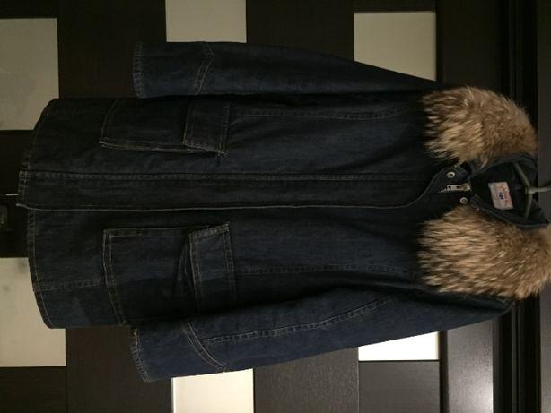 Джинсовое пальто.