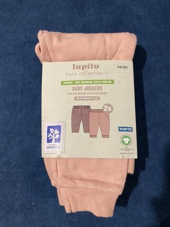 Zestaw 2 x spodenki niemowlęce z bawełny organicznej 74-80