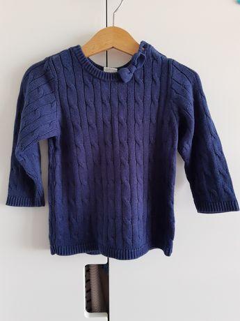 Dziewczęcy sweterek hm 80