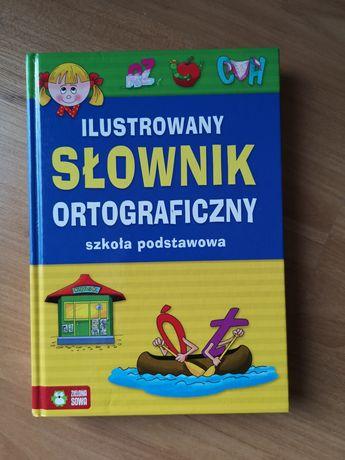 Słownik ortograficzny ilustrowany twarda oprawa