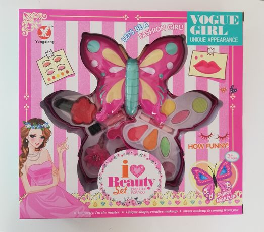 Zestaw do makijażu dla małej piękności. Motylek.