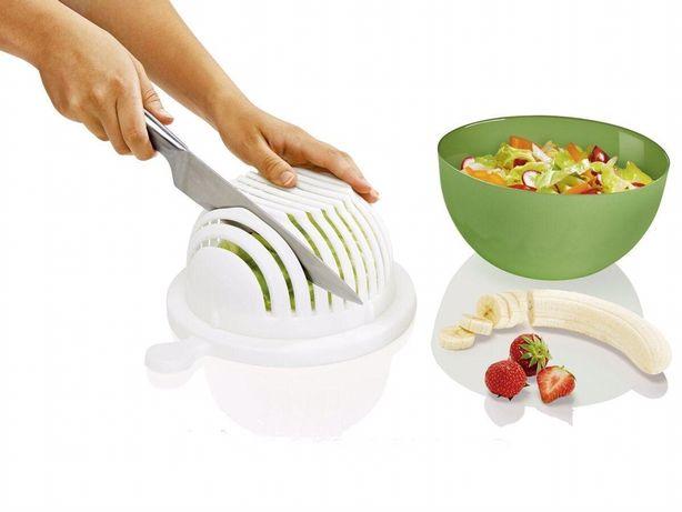 Миска з кришкою друшлаком для овочів фрукErnesto салатница овощерезка