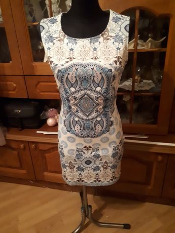 Wąska sukienka kolorowa S