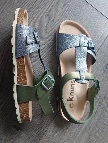 Nowe sandałki sandały firmy Kmins, profilowane rozm. 35
